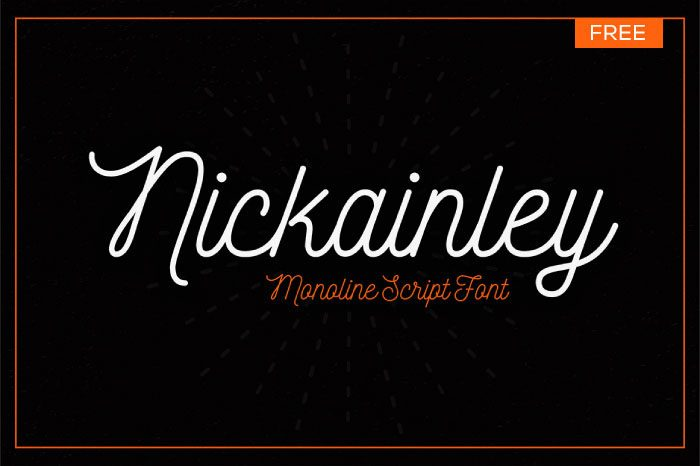 Nickainley-Normal font