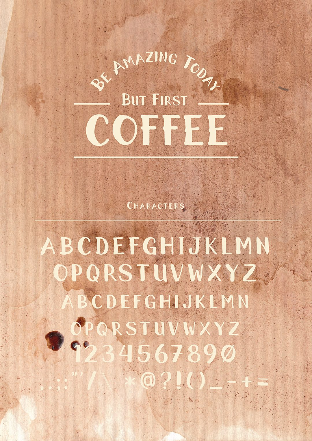 RoughBrush font