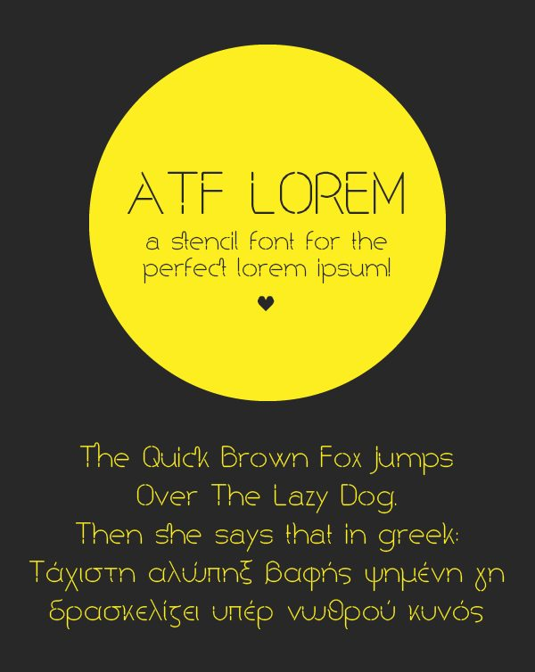 ATF Lorem Regular font