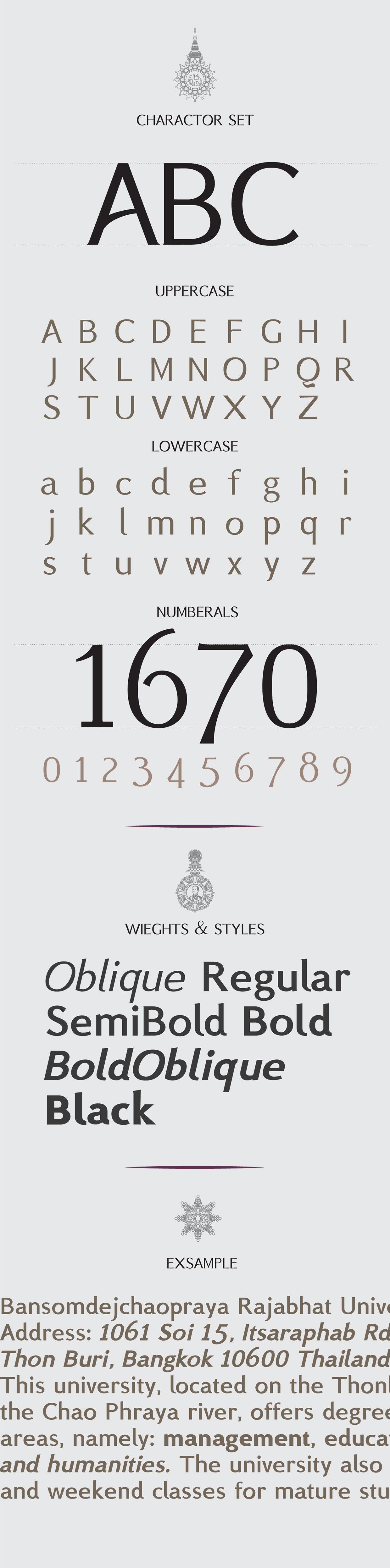 BSRU BANSOMDEJ Oblique font