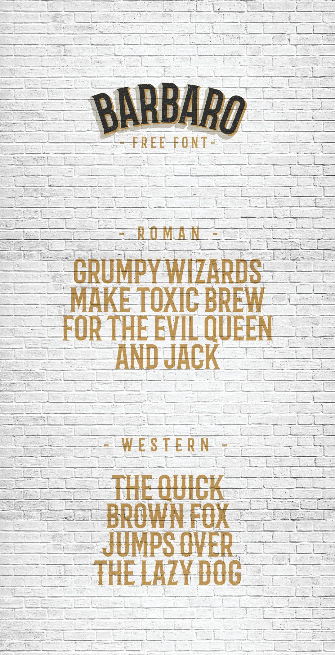 Barbaro Western font