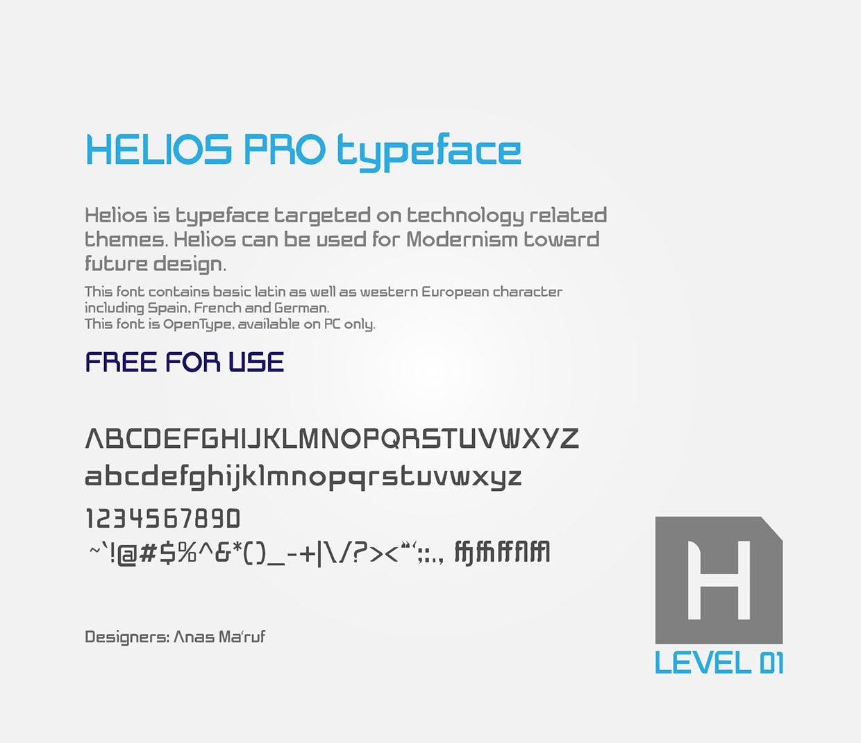 Helios Pro font