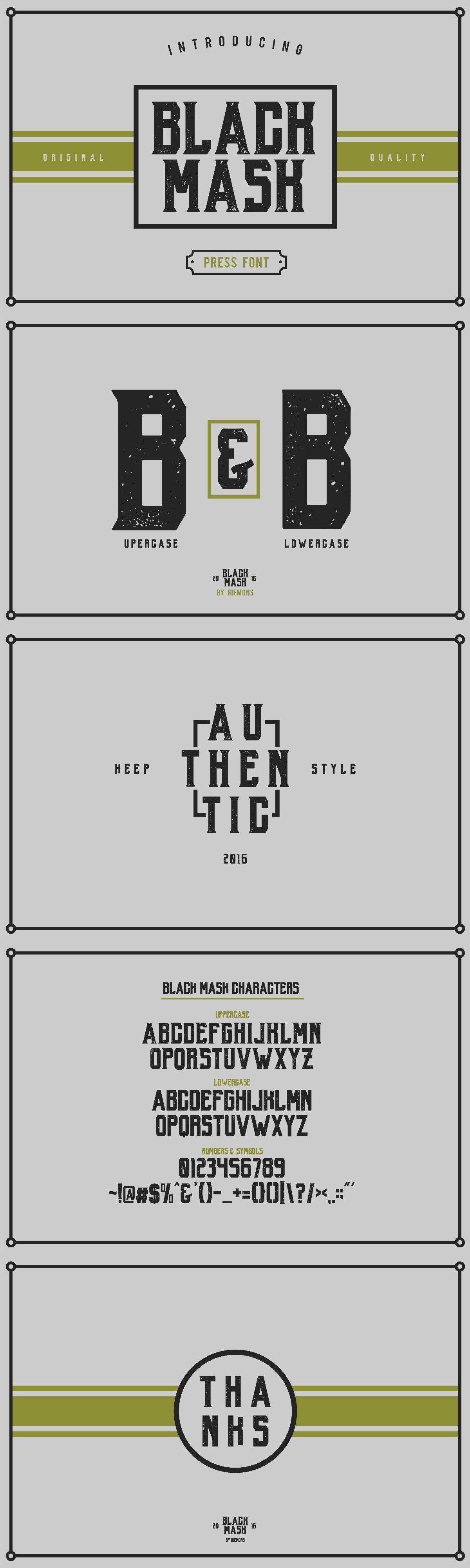 Black Mask Press font