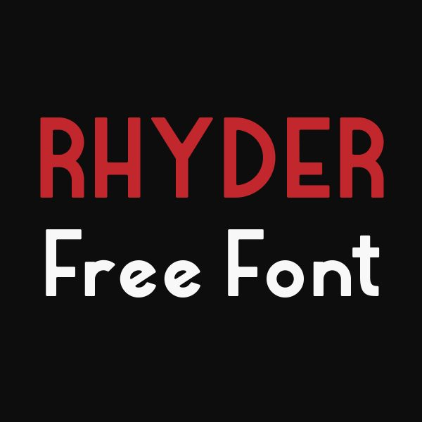 Rhyder font