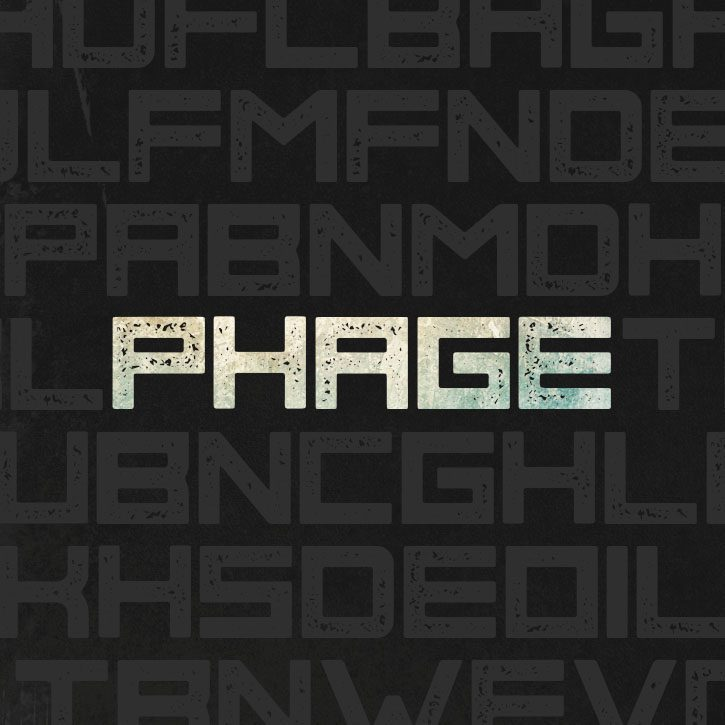 Phage Regular font