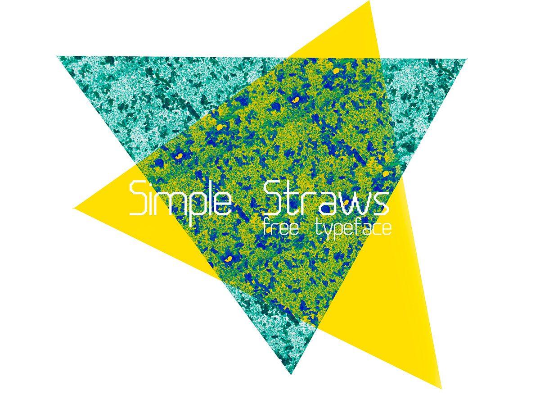 Simple Straws Regular font