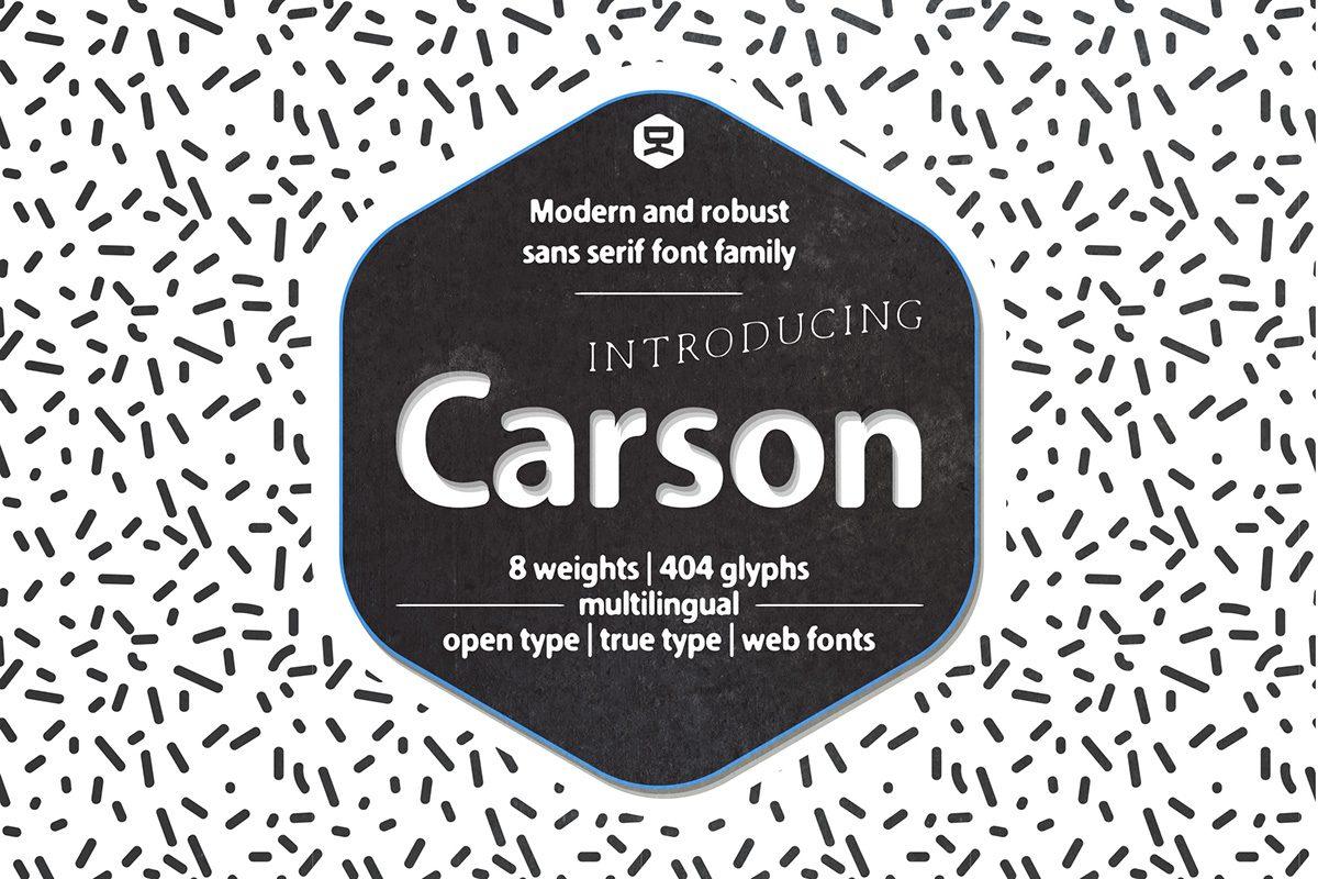 Carson Outline font
