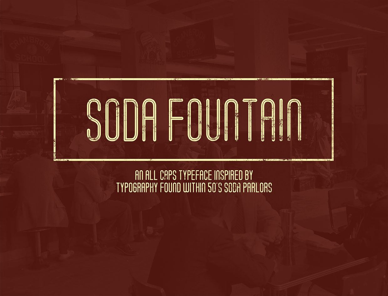 Soda Fountain Inline font