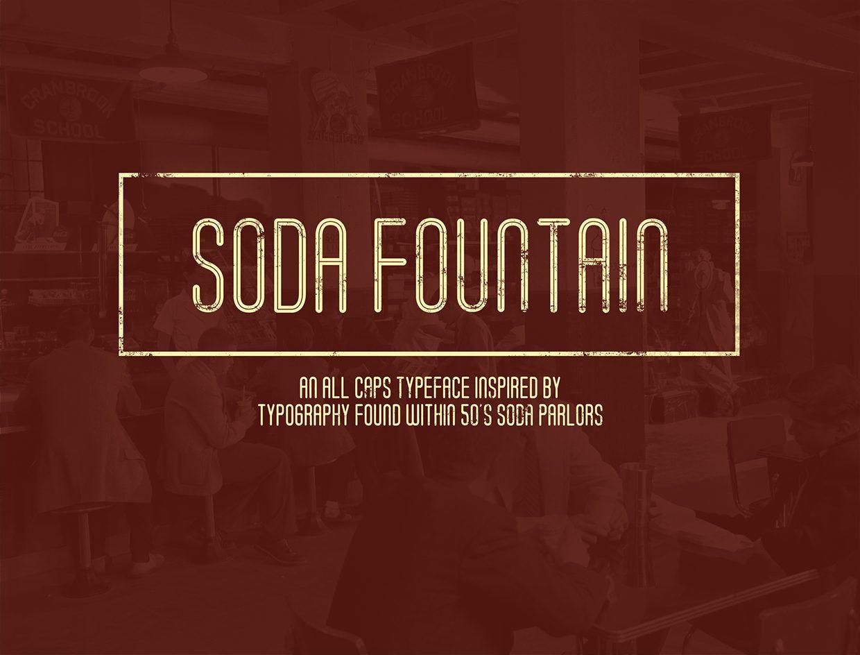 Soda Fountain Thin Oblique font
