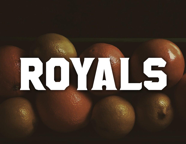 Royals Rush font