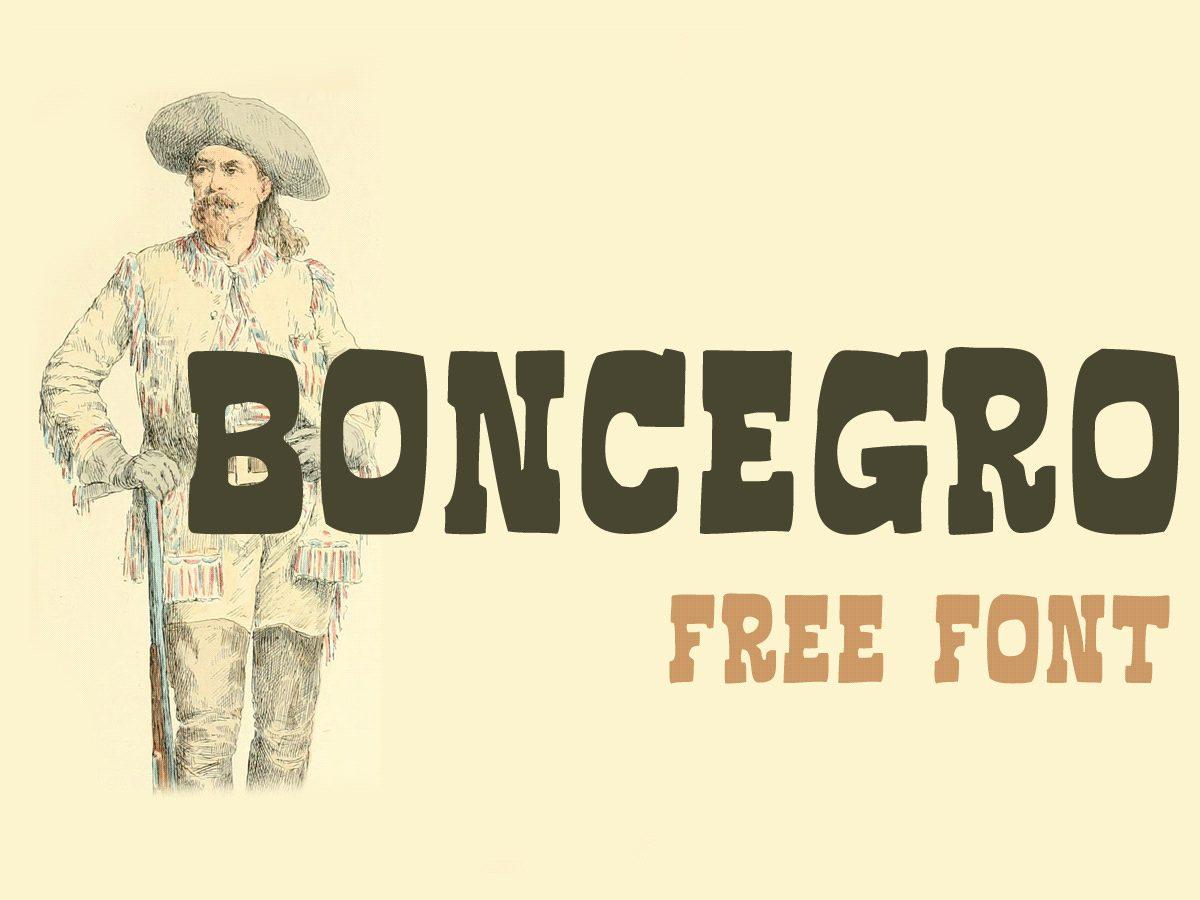 Boncegro FF 4F font