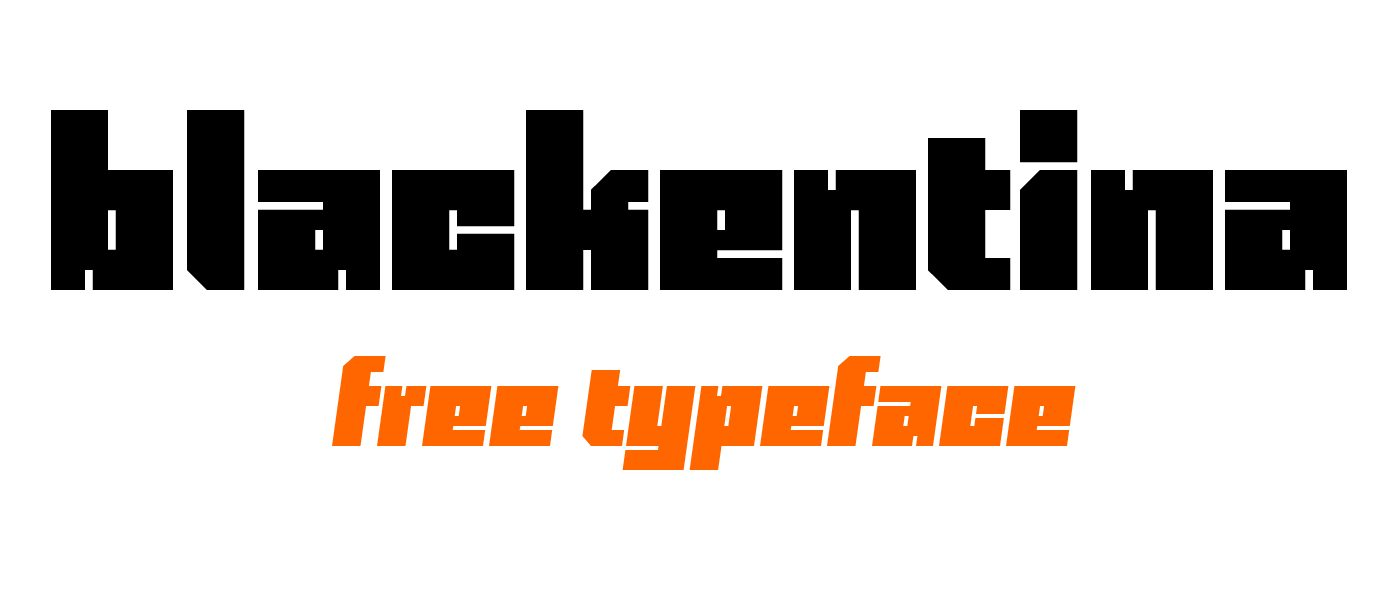 Blackentina 4F Italic font
